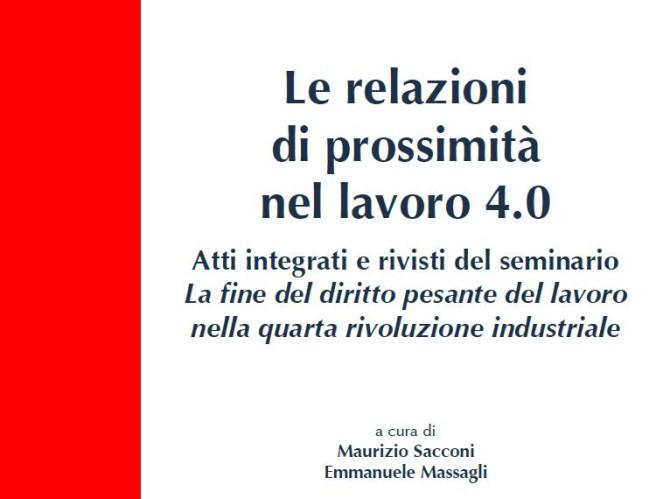 Le relazioni di prossimità nel lavoro 4.0